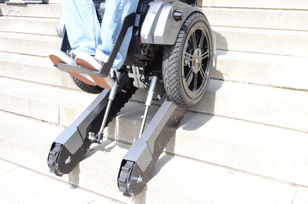 The Scalevo stair climbing wheelchair in action