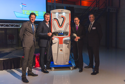 Veefil-RT 50kW fast charger at new Tritium HQ in The Netherlands
