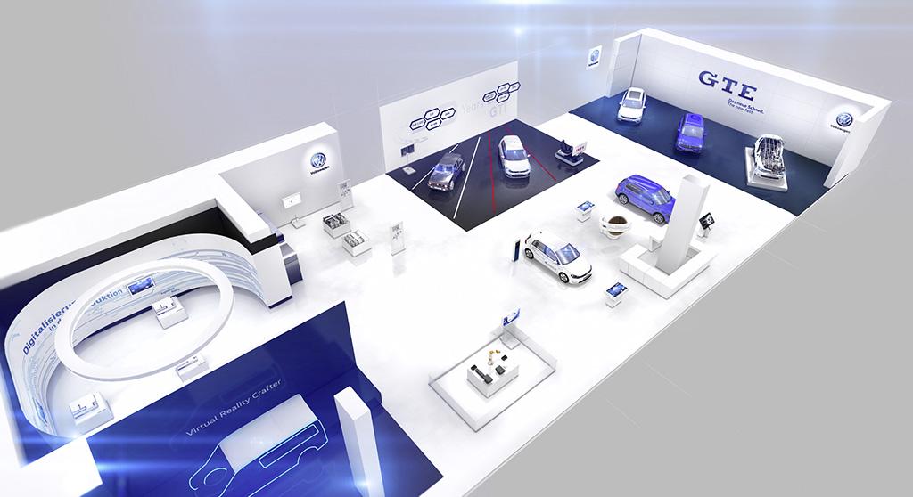 Volkswagen demonstrates digitalisation and e-mobility at Hanover