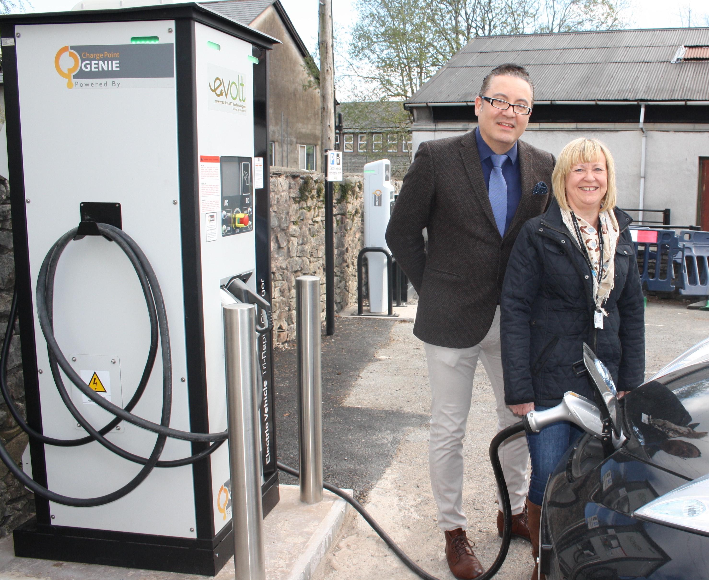 eVolt charging points in Cumbria
