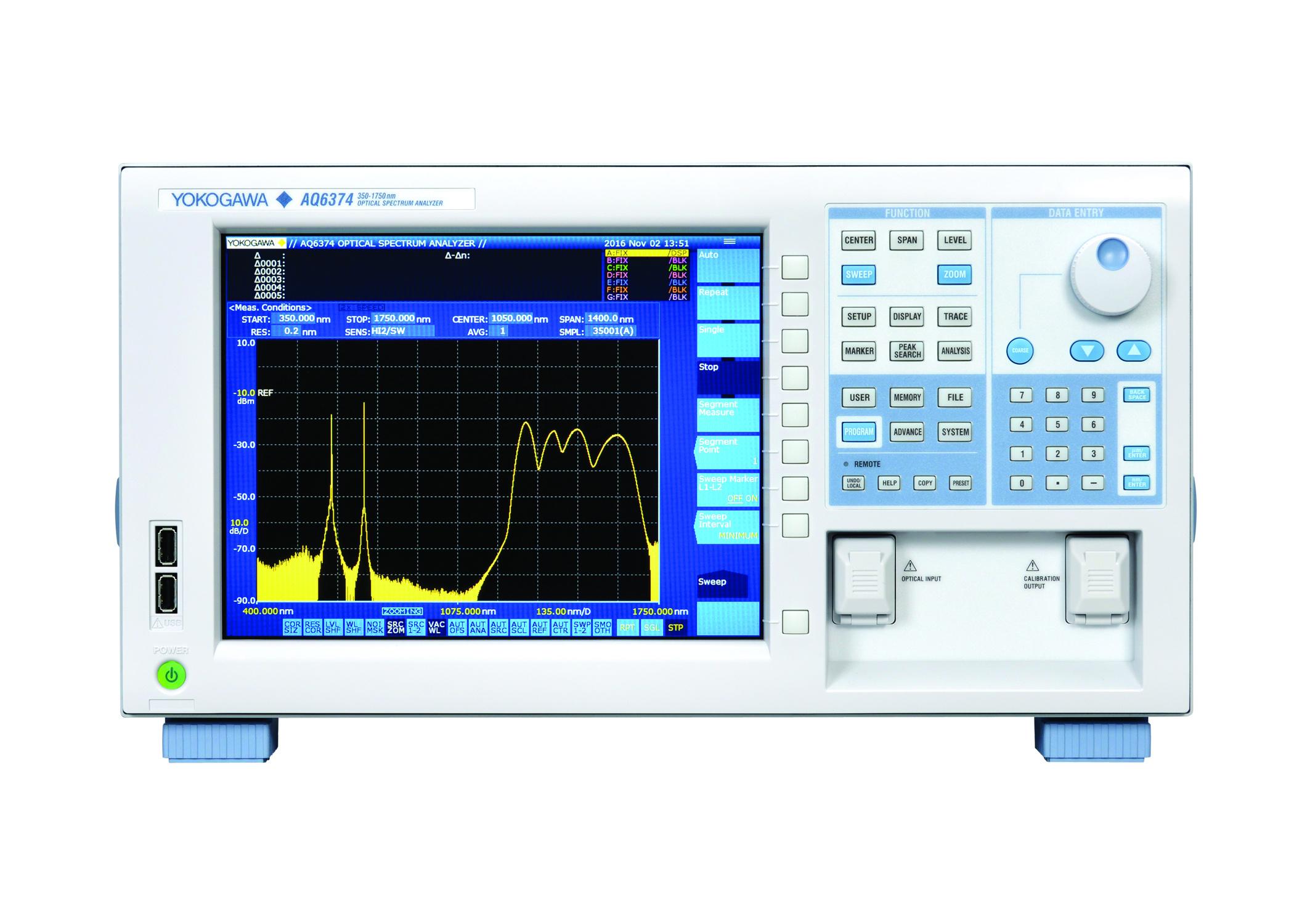 wideband optical spectrum analyser
